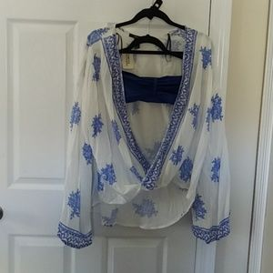 Nwt Forever 21 knotted open top
